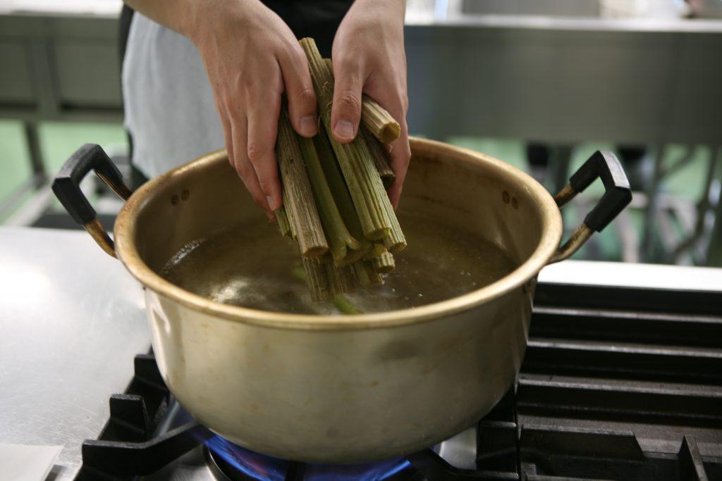 山菜で料理を作りました(山菜セミナー)